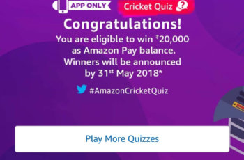 amazon app only cricket contest with answers